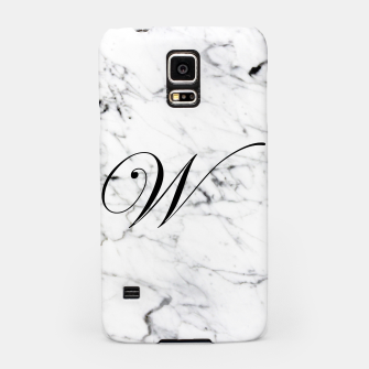 Thumbnail image of Abstract natural marble texture and alphabet W Samsung Case, Live Heroes
