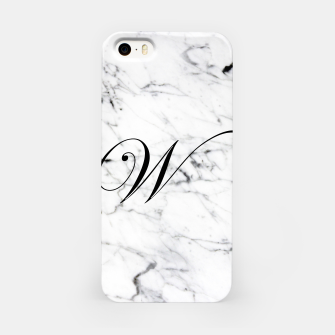 Imagen en miniatura de Abstract natural marble texture and alphabet W iPhone Case, Live Heroes