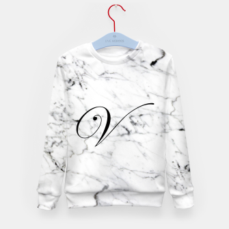 Thumbnail image of Abstract natural marble texture and alphabet V Kid's sweater, Live Heroes