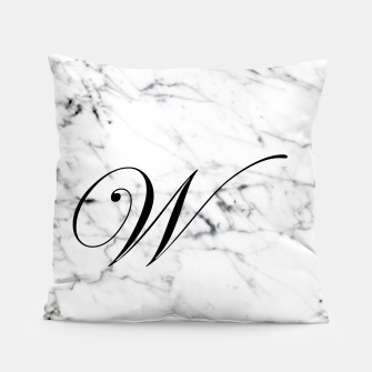 Miniaturka Abstract natural marble texture and alphabet W Pillow, Live Heroes