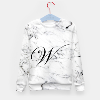 Thumbnail image of Abstract natural marble texture and alphabet W Kid's sweater, Live Heroes
