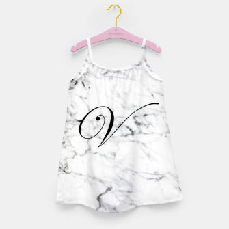 Miniature de image de Abstract natural marble texture and alphabet V Girl's dress, Live Heroes