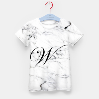 Miniatur Abstract natural marble texture and alphabet W Kid's t-shirt, Live Heroes
