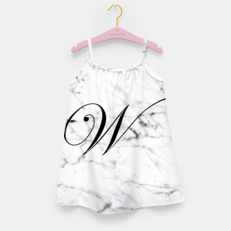 Miniature de image de Abstract natural marble texture and alphabet W Girl's dress, Live Heroes
