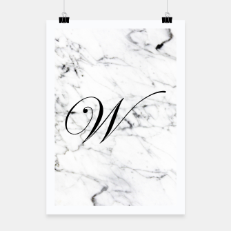 Miniature de image de Abstract natural marble texture and alphabet W Poster, Live Heroes