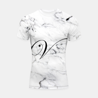 Miniature de image de Abstract natural marble texture and alphabet V Shortsleeve rashguard, Live Heroes