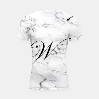 Miniature de image de Abstract natural marble texture and alphabet W Shortsleeve rashguard, Live Heroes