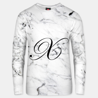 Miniaturka Abstract natural marble texture and alphabet X Unisex sweater, Live Heroes