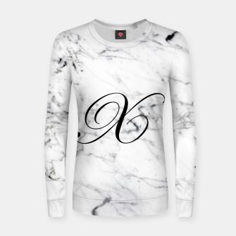 Miniatur Abstract natural marble texture and alphabet X Women sweater, Live Heroes