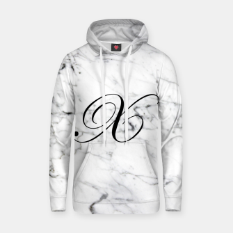 Miniaturka Abstract natural marble texture and alphabet X Hoodie, Live Heroes