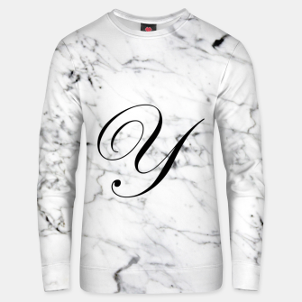Miniature de image de Abstract natural marble texture and alphabet Y Unisex sweater, Live Heroes