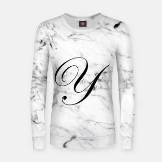 Miniatur Abstract natural marble texture and alphabet Y Women sweater, Live Heroes