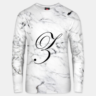 Miniaturka Abstract natural marble texture and alphabet Z Unisex sweater, Live Heroes