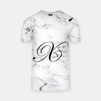 Miniaturka Abstract natural marble texture and alphabet X T-shirt, Live Heroes