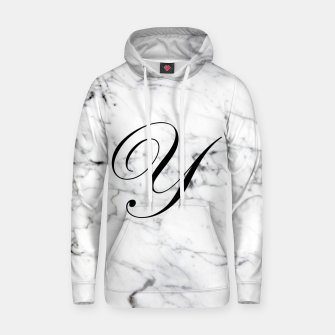 Miniaturka Abstract natural marble texture and alphabet Y Hoodie, Live Heroes