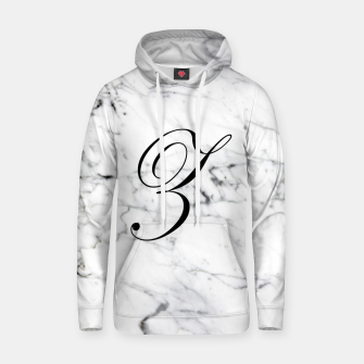 Miniaturka Abstract natural marble texture and alphabet Z Hoodie, Live Heroes