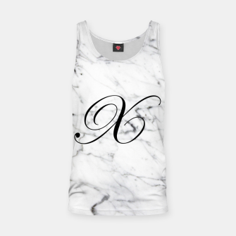 Miniature de image de Abstract natural marble texture and alphabet X Tank Top, Live Heroes
