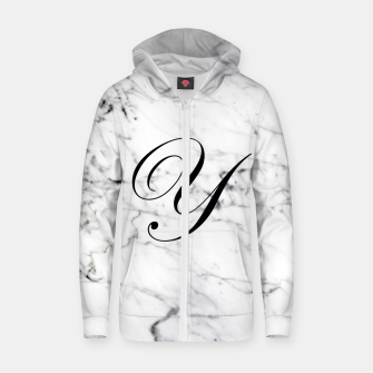 Miniaturka Abstract natural marble texture and alphabet Y Zip up hoodie, Live Heroes