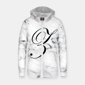 Miniaturka Abstract natural marble texture and alphabet Z Zip up hoodie, Live Heroes