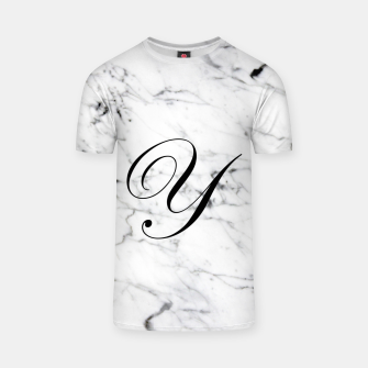 Miniaturka Abstract natural marble texture and alphabet Y T-shirt, Live Heroes