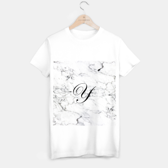 Thumbnail image of Abstract natural marble texture and alphabet Y T-shirt regular, Live Heroes