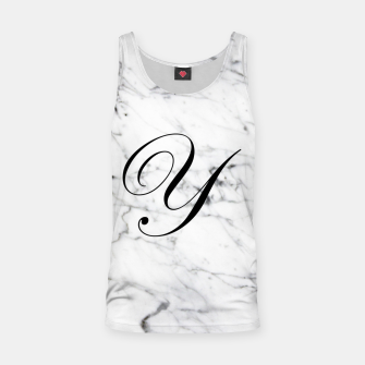 Miniature de image de Abstract natural marble texture and alphabet Y Tank Top, Live Heroes