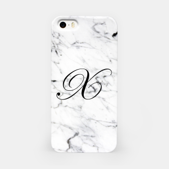Thumbnail image of Abstract natural marble texture and alphabet X iPhone Case, Live Heroes