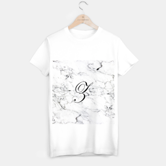 Thumbnail image of Abstract natural marble texture and alphabet Z T-shirt regular, Live Heroes