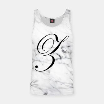 Miniature de image de Abstract natural marble texture and alphabet Z Tank Top, Live Heroes