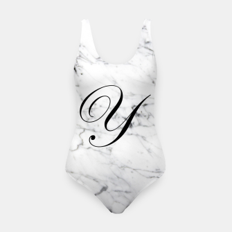 Miniature de image de Abstract natural marble texture and alphabet Y Swimsuit, Live Heroes