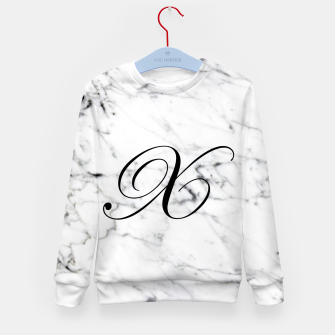 Thumbnail image of Abstract natural marble texture and alphabet X Kid's sweater, Live Heroes