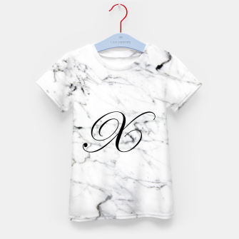 Miniatur Abstract natural marble texture and alphabet X Kid's t-shirt, Live Heroes