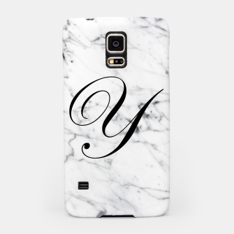 Thumbnail image of Abstract natural marble texture and alphabet Y Samsung Case, Live Heroes