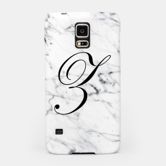 Thumbnail image of Abstract natural marble texture and alphabet Z Samsung Case, Live Heroes