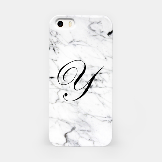Thumbnail image of Abstract natural marble texture and alphabet Y iPhone Case, Live Heroes