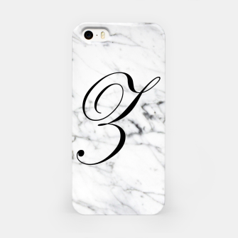 Thumbnail image of Abstract natural marble texture and alphabet Z iPhone Case, Live Heroes