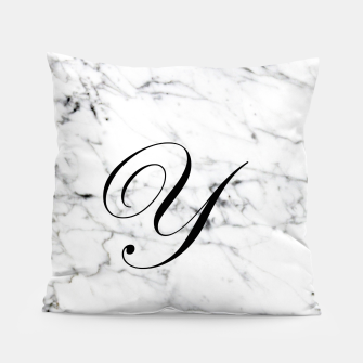 Miniaturka Abstract natural marble texture and alphabet Y Pillow, Live Heroes