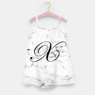 Miniature de image de Abstract natural marble texture and alphabet X Girl's dress, Live Heroes