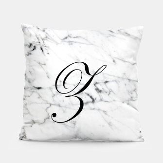 Miniaturka Abstract natural marble texture and alphabet Z Pillow, Live Heroes