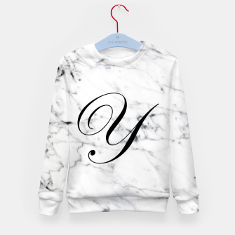 Thumbnail image of Abstract natural marble texture and alphabet Y Kid's sweater, Live Heroes