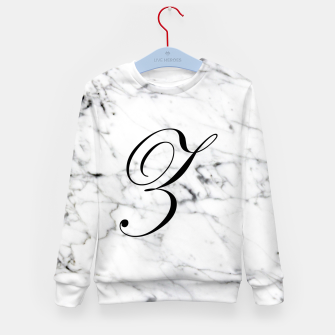 Thumbnail image of Abstract natural marble texture and alphabet Z Kid's sweater, Live Heroes
