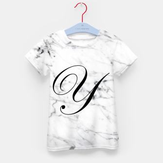 Miniaturka Abstract natural marble texture and alphabet Y Kid's t-shirt, Live Heroes