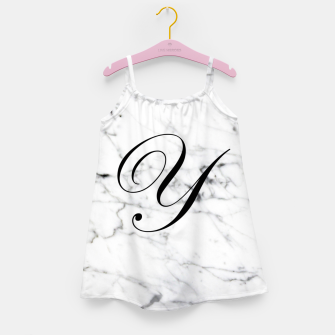 Thumbnail image of Abstract natural marble texture and alphabet Y Girl's dress, Live Heroes