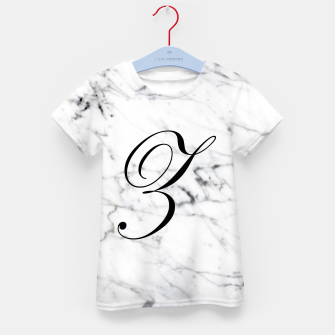 Miniatur Abstract natural marble texture and alphabet Z Kid's t-shirt, Live Heroes