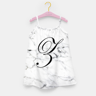 Miniatur Abstract natural marble texture and alphabet Z Girl's dress, Live Heroes