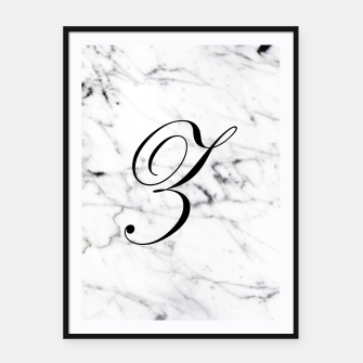 Thumbnail image of Abstract natural marble texture and alphabet Z Framed poster, Live Heroes