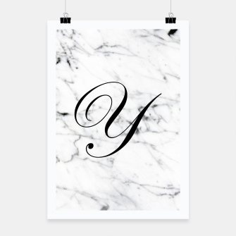 Thumbnail image of Abstract natural marble texture and alphabet Y Poster, Live Heroes