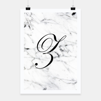 Thumbnail image of Abstract natural marble texture and alphabet Z Poster, Live Heroes