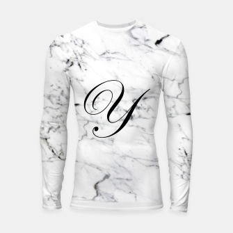 Thumbnail image of Abstract natural marble texture and alphabet Y Longsleeve rashguard , Live Heroes