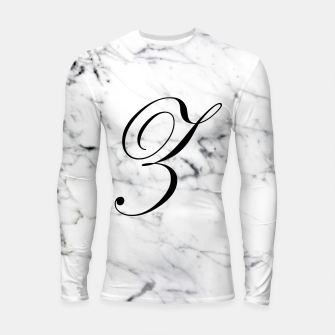 Thumbnail image of Abstract natural marble texture and alphabet Z Longsleeve rashguard , Live Heroes